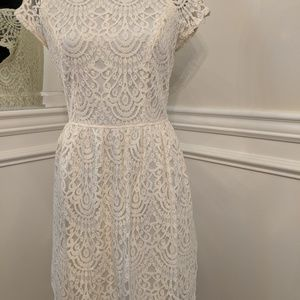 Cream lace Altar'd State dress